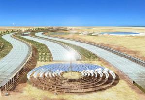 Unidad de cultivo en el Sahara