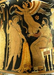 Jason entrega a Pelias el vellocino de oro (Louvre)