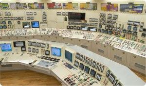 Sala de control de una central nuclear